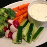 Serve Bleu Cheese Dressing as a dip along with a plate of garden vegetables (Photo Credit: Adroit Ideals)