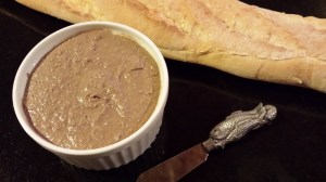 Hubby's Chicken Liver Pate goes great on a baguette!  (Photo Credit: Adroit Ideals)