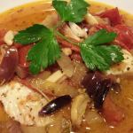 Rockfish Provencal -- white fish served with a sauce of tomatoes, kalamata olives, and roasted garlic (Photo Credit: Adroit Ideals)