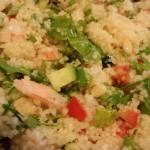 Citrus Shrimp Couscous Salad is a tasty cold salad in the summertime.  (Photo Credit: Adroit Ideals)