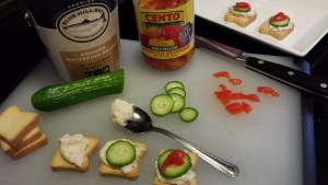 Assembly of Smoked Whitefish Mini Toasts (Photo Credit: Adroit Ideals)