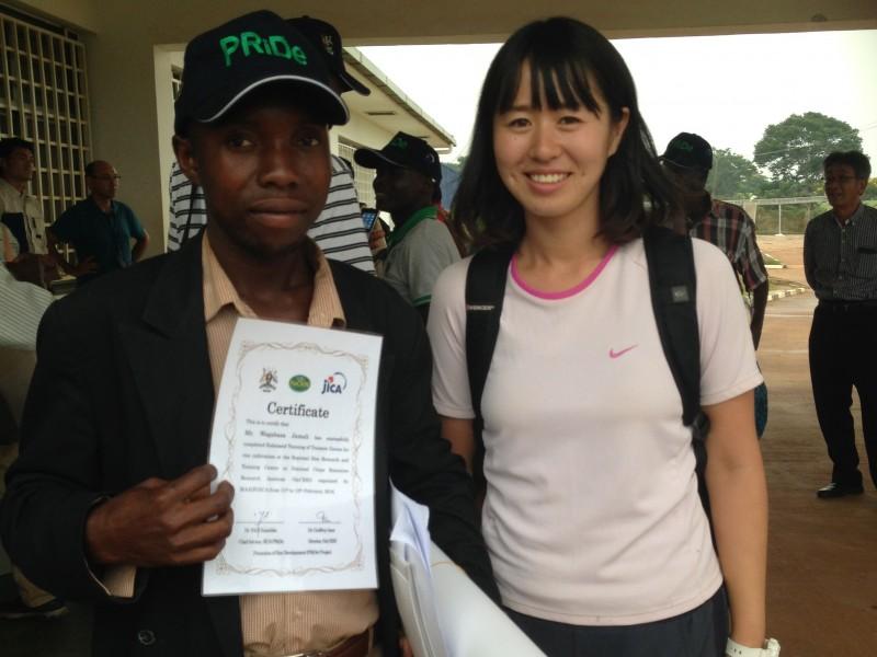 JICAで行われたお米研修。一緒に活動してる米農家さんと参加。