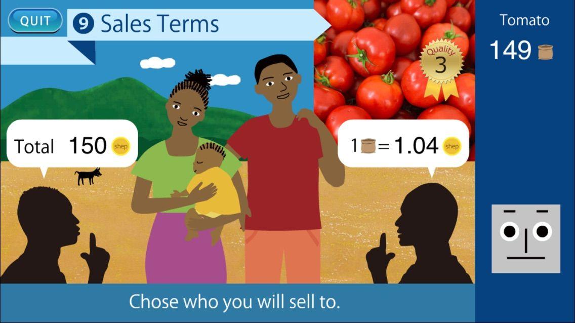 """JICAが監修!アフリカの農業を疑似体験できるアプリゲーム""""SHEP""""で遊んでみた。"""
