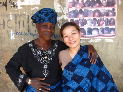 ヨルバ族の女性と私