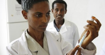 Photo credit: By DFID - UK Department for International Development (Flickr: Preparing a measles vaccine in Ethiopia), via Wikimedia Commons