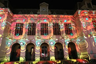 Video-mapping all'Hotel de Ville de Dakar