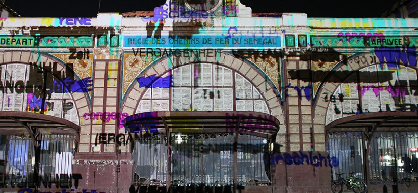 Video-mapping alla Gare de Dakar