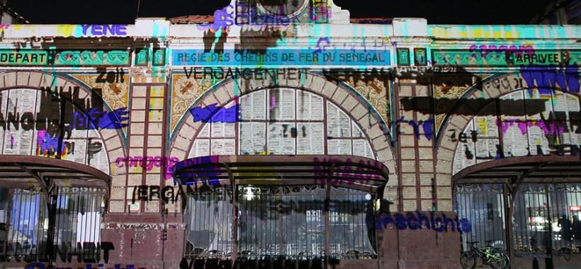 Video-mapping alla Gare de Dakar