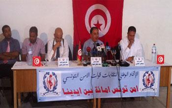Lors de la conférence de presse tenue vendredi 6 septembre par l'Union Nationale des syndicats des forces de la sûreté (UNSFS)