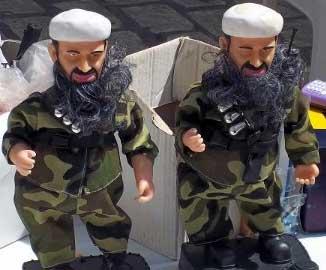 La distribution des poupées portant la personnalité de Ben Laden aux