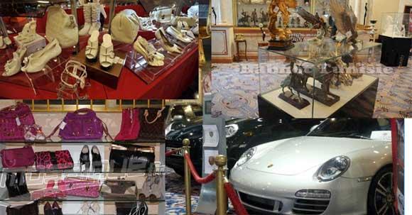 L'exposition de la vente des biens confisqués appartenant à Ben Ali et à sa famille