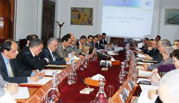 Les préparatifs de la réalisation du programme relatif au recensement national de la population et de l'habitat qui aura lieu dans l'année 2014