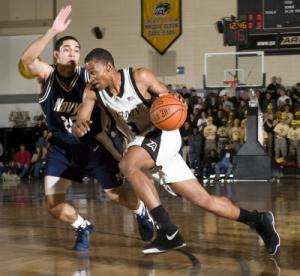 Army guard Cleveland Richard is averaging 12 points, 4 rebounds and 2 steals per game. (Army photo)