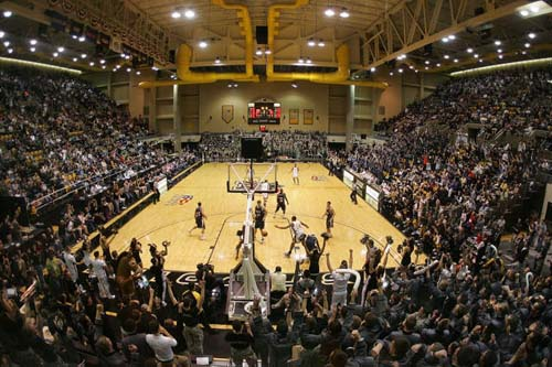 A record crowd was on hand at Christl Arena Saturday to see Army beat Navy 69-50. (ArmySports.com photo)