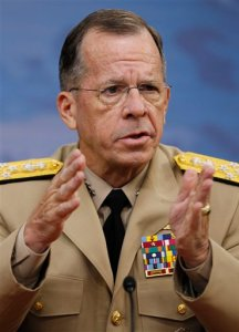 Adm. Mike Mullen is chairman of the Joint Chiefs of Staff and one strong dude. (AP Photo/Alex Brandon)