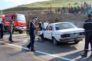 عااجل:حادثة سير خطيرة بمدخل أيت ملول نتيجة اصطدام شاحنة وسيارة أجرة