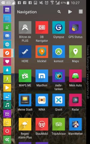 Und so sieht die Übersicht auf meinem Handy aus. (Launcher: SmartLauncher 2.0, Iconset: Voxel)