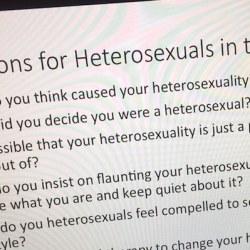 酷新聞:教授「給異性戀的6問題」 引發網友瘋傳