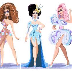酷影像:變裝皇后化身  萌感十足的插畫人物