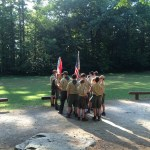 The Troop readying for Opening Flag.