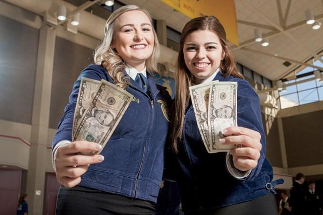 Sydney Owensby (Left) and Eillen Desmond. FFA National Convention In Louisville, Kentucky