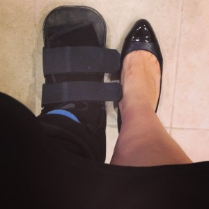 This boot is seriously cramping my style.