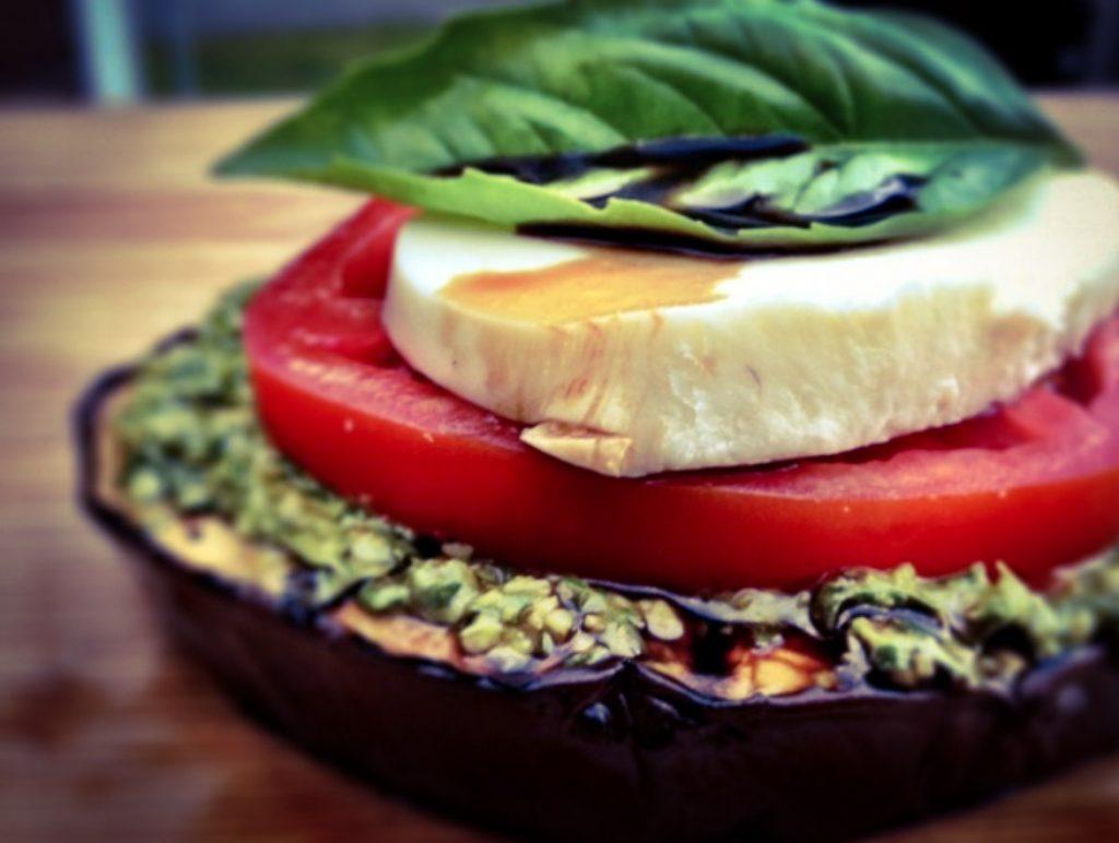 The California Kitchen: Eggplant Caprese Stack | Merlo ...
