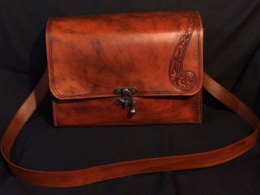 Elven Leather Messenger Bag