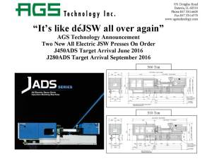 AGS Announcement-DeJSW
