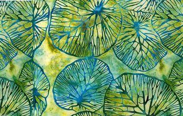 Gambar Batik Motif Alam Warna Hijau - gambar dari Pinterest dot com