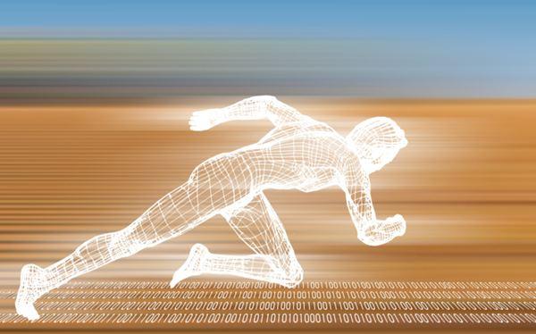 gambar pelari berlari cepat