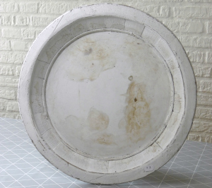 Large White Wooden Tray - Before Makeover