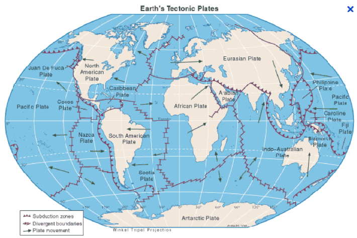 map of world fault lines