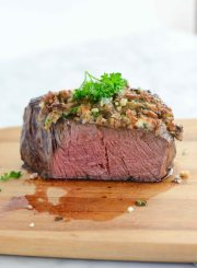 Blue Cheese Crusted Filet Gluten Free Recipe | ahealthylifeforme.com