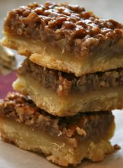 Ooey-Gooey Pecan Bars Recipe at www.ahealthylifeforme.com