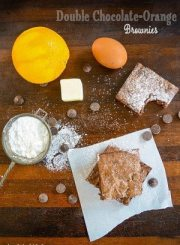 Double Chocolate Orange Brownie Recipe | ahealthylifeforme.com