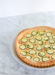 Zucchini Cheese Tart is a creamy, salty, decadent slice of heaven. An awesome way to enjoy your summer zucchini | ahealthylifeforme.com