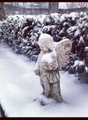 My Garden Statue in the snow