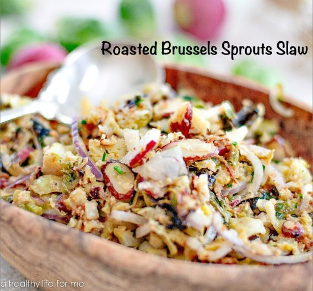 Roasted Brussels Sprout Slaw Recipe is Gluten Free and Delicious | ahealthylifeforme.com