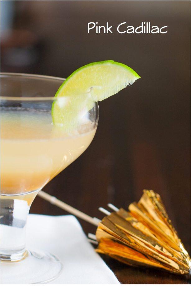Pink Cadillac Cocktail Margarita Recipe | Margarita Day Cocktail Round Up