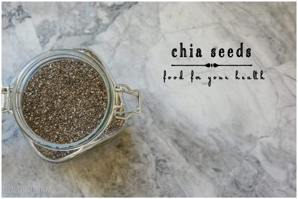 Chia Seeds on my counter everyday healthy