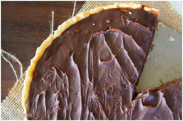 Chocolate Honey Caramel Pecan Tart2