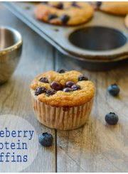 Blueberry Protein Muffin Healthy Treat Recipe | ahealthylifeforme.com