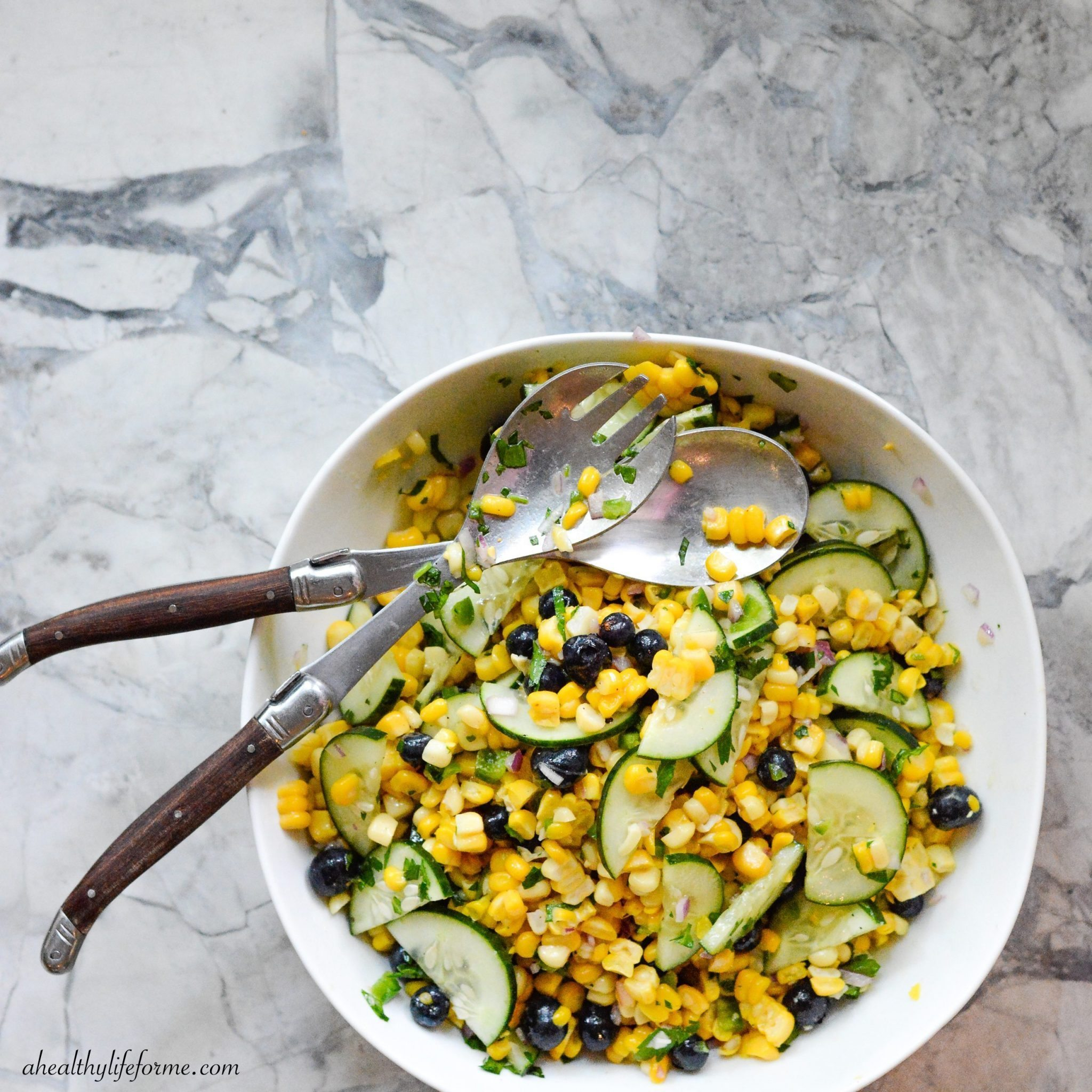 Blueberry Corn Salad is a simple healthy clean summer salad that is ...