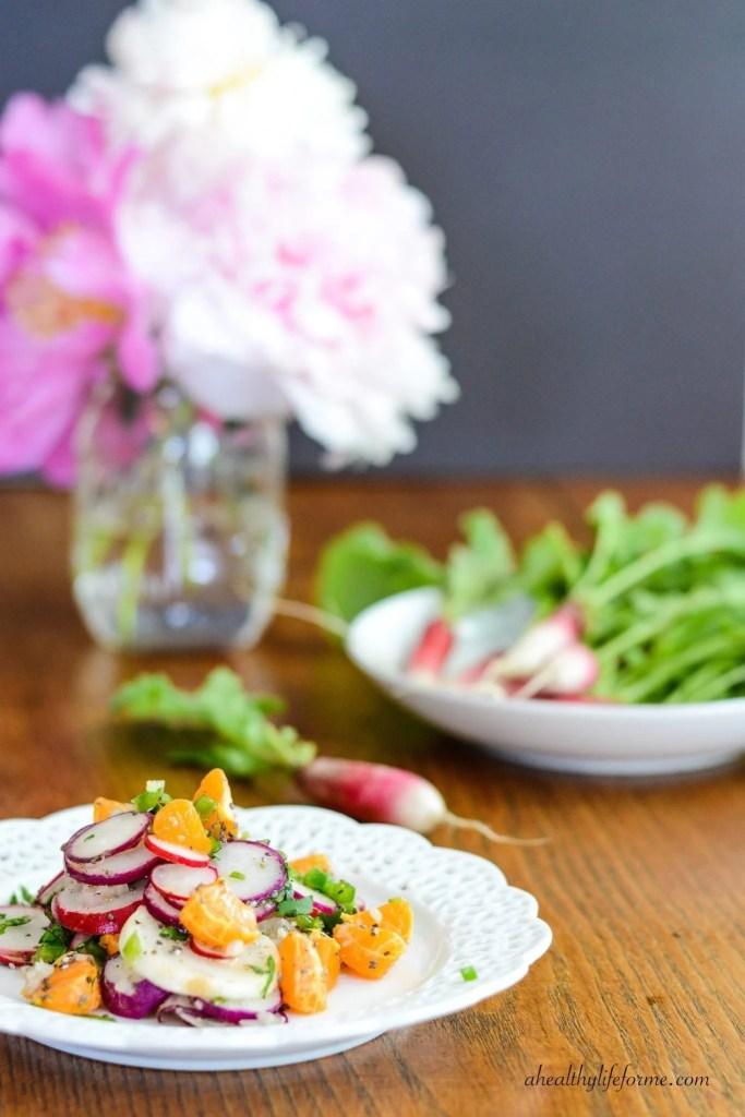 Orange and Radish Salad Healthy Recipe | ahealthylifeforme.com