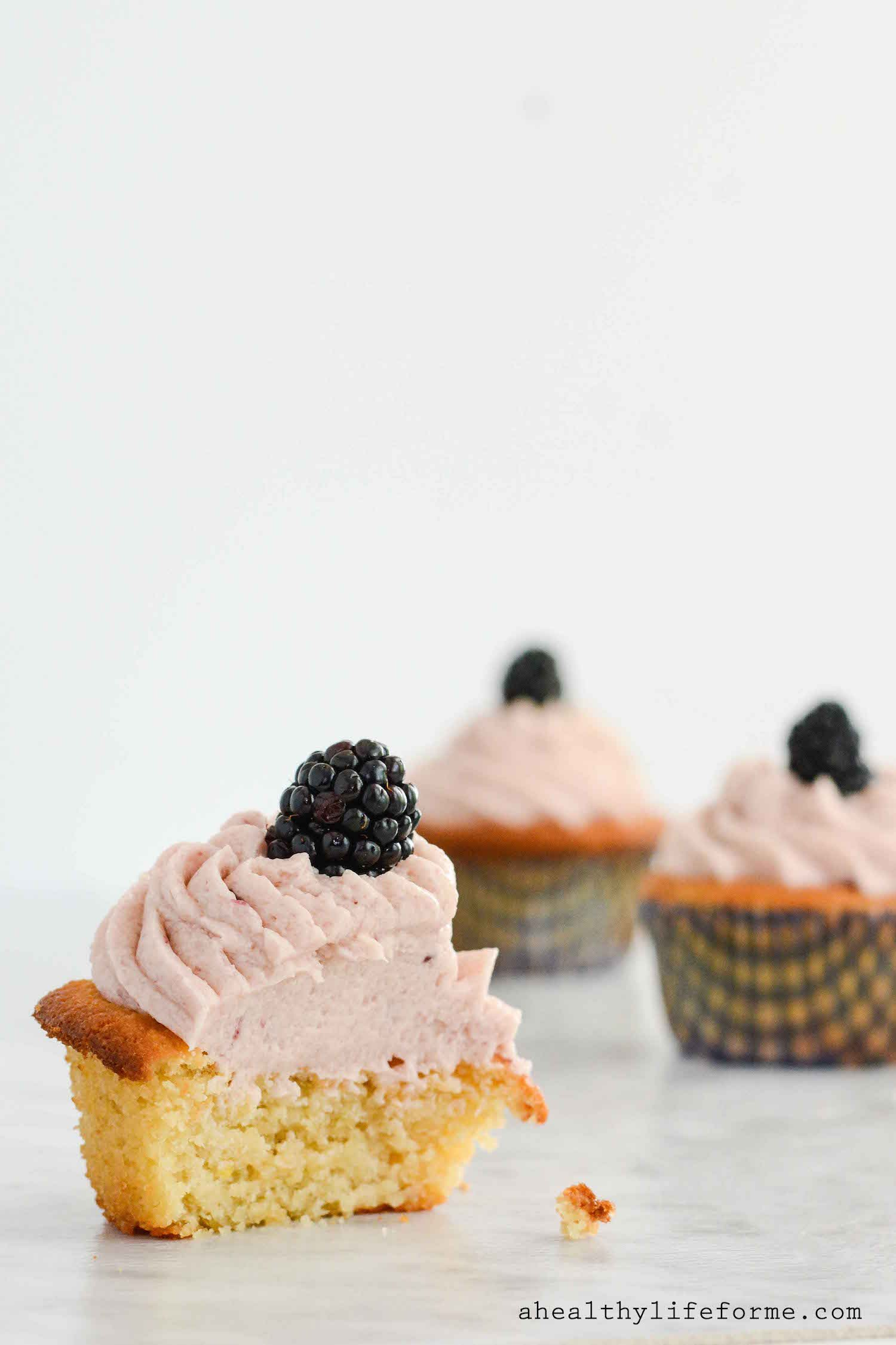 Lemon Blackberry Cupcakes {gluten free + paleo} - A Healthy Life For ...