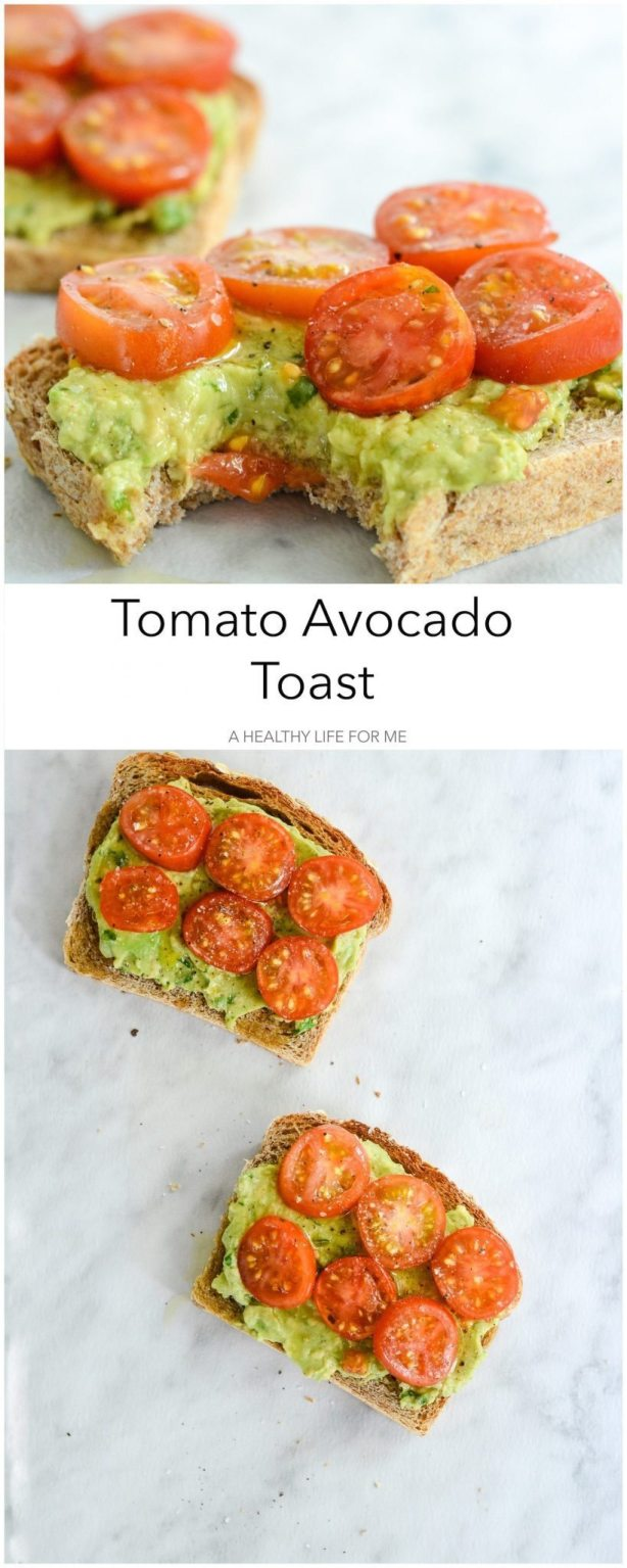 Tomato Avocado Toast is the perfect blend of crunch, creamy and summer ...