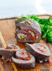 Stuffed Baked Steak is a delicous dinner that is simple to prepare that will become a family favorite. Gluten Free, Grain Free, and Soy Free | ahealthylifeforme.com