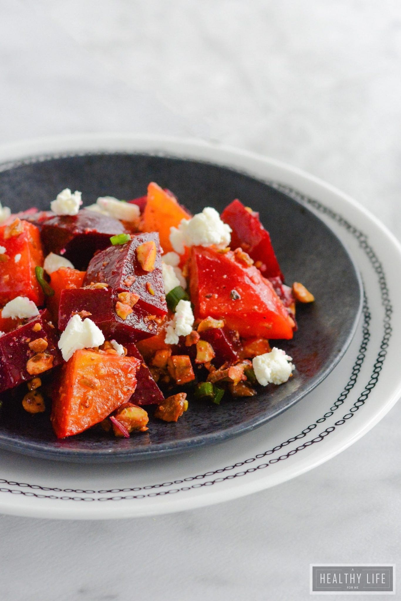 Beets Pistachio and Goat Cheese Salad is a delicious winter salad ...