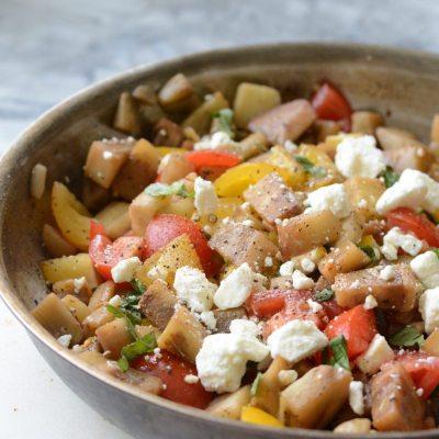 Eggplant Feta Salad {Gluten Free}